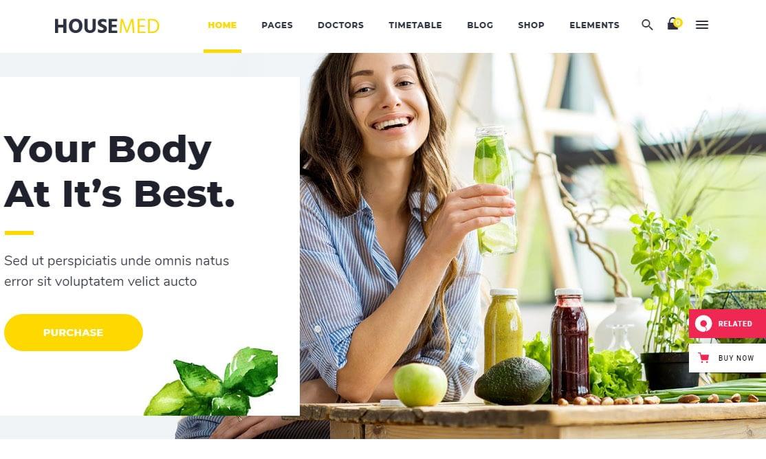 HouseMed WordPress Theme