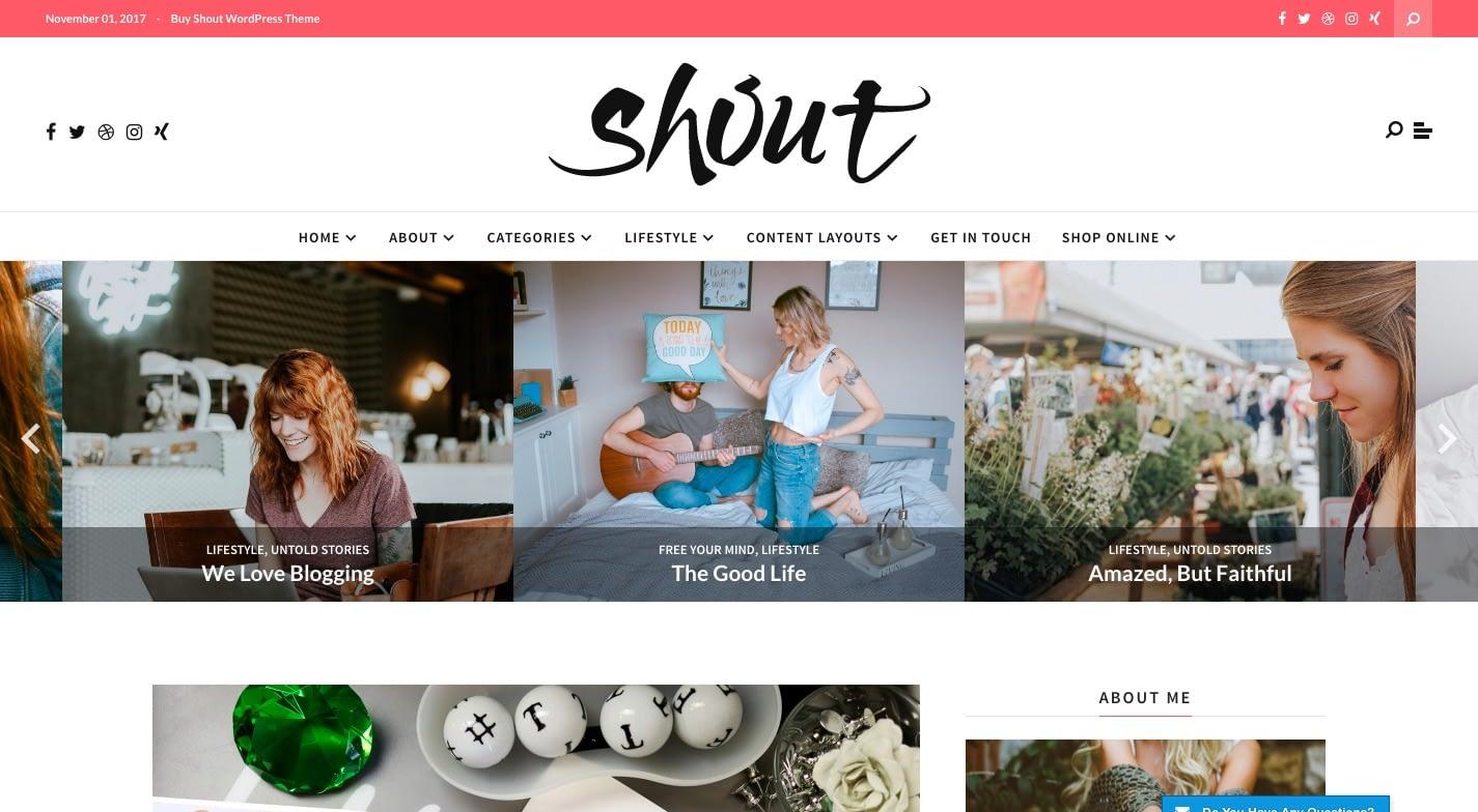 Shout WordPress Theme