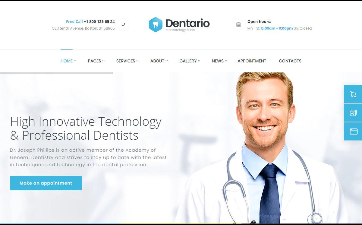 Dentario WordPress Theme
