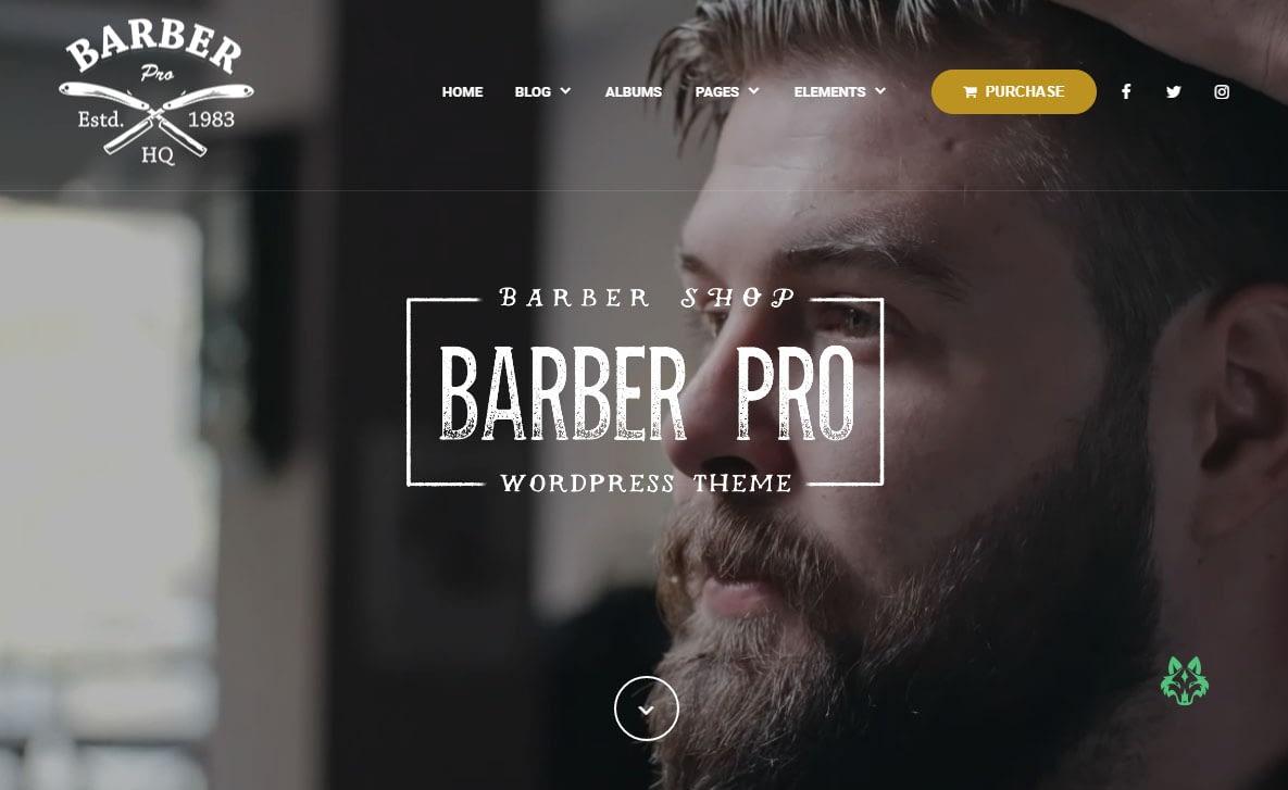 BarberPress WordPress Theme