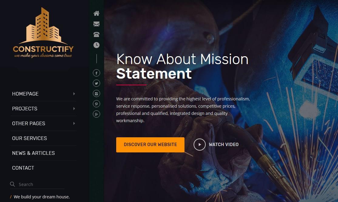 Constructify WordPress Theme