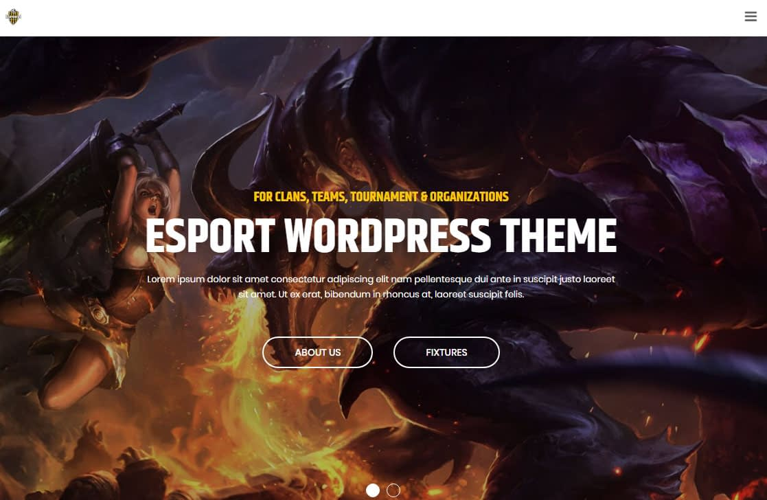 eSport WordPress Theme