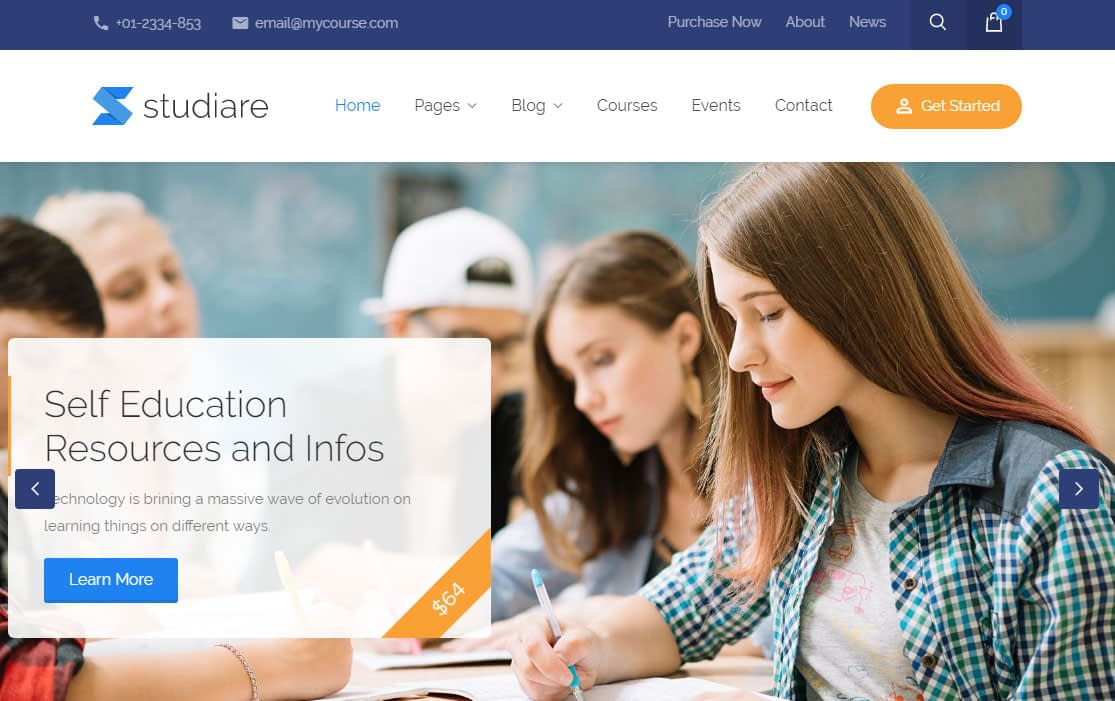 Studiare WordPress Theme