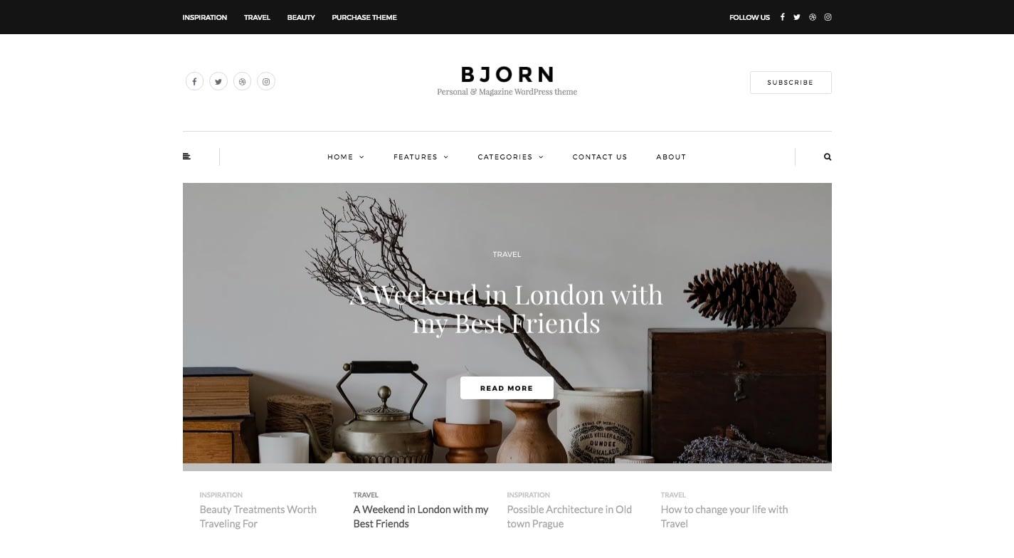 Bjorn WordPress Theme