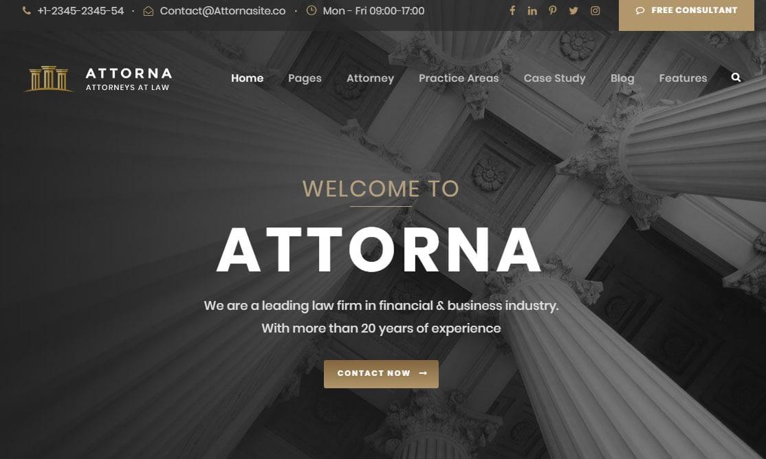 Attorna WordPress Theme