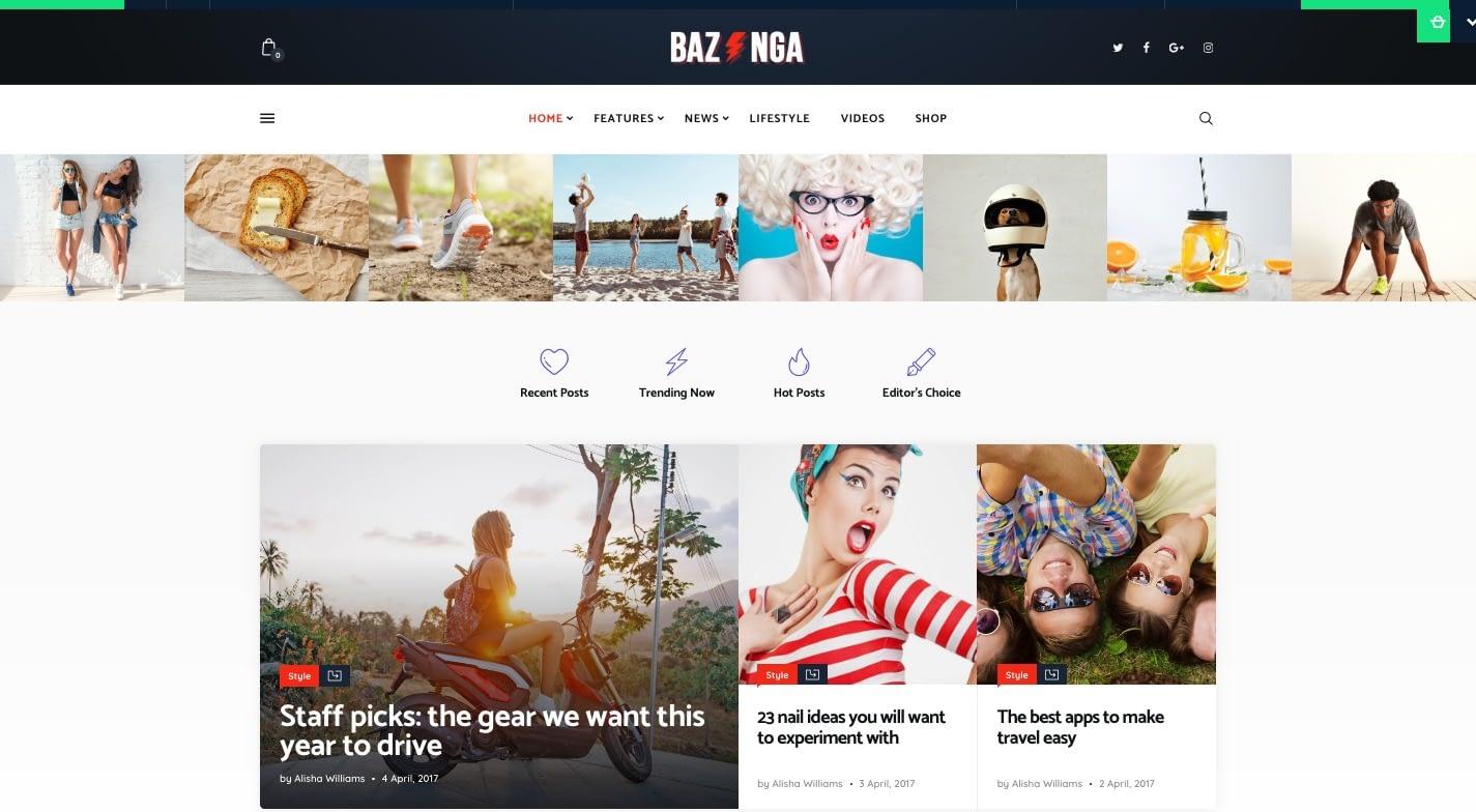 Bazinga WordPress Theme