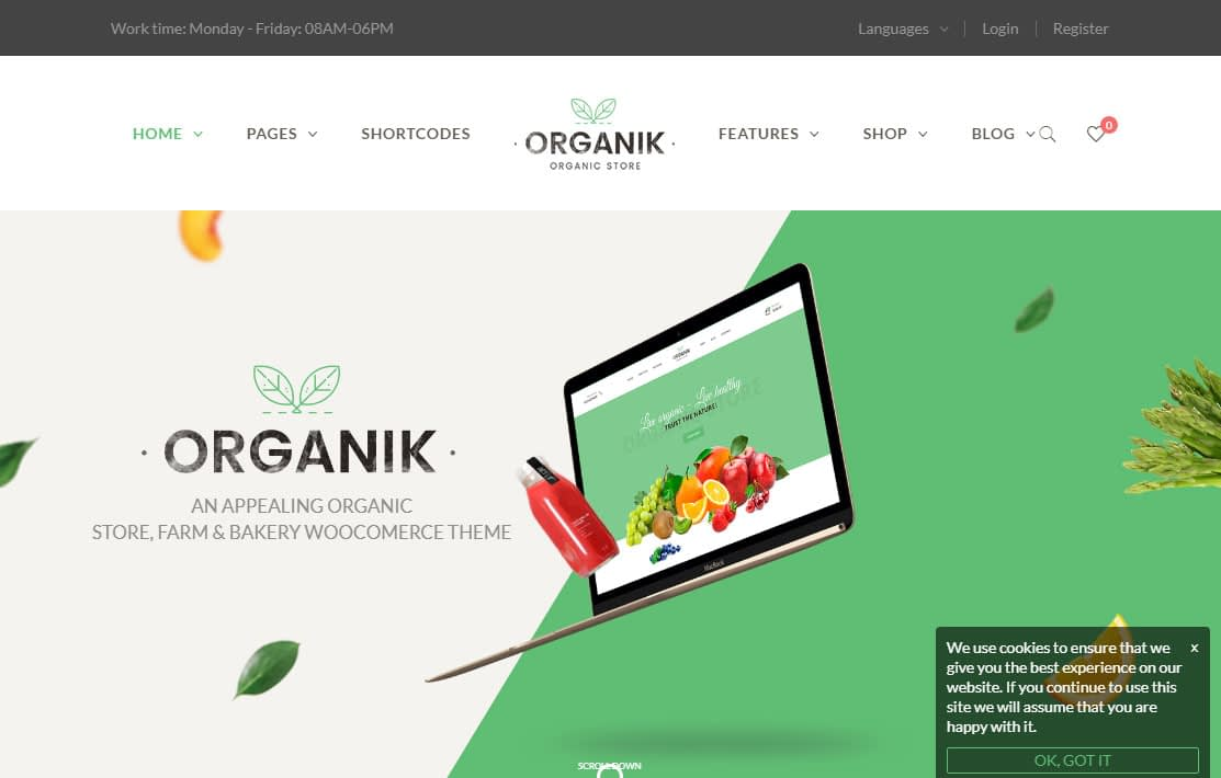 Best Home Page 2020.10 Best Wordpress Themes For Organic Food Farm